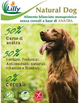 CROCCHETTE NATURAL DOG - GRAIN FREE ANATRA