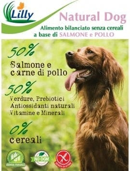 NATURAL DOG - GRAIN FREE SALMONE E POLLO