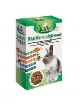 RABBY Conigli nani SENZA CEREALI con ERBE e FIORI