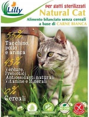NATURAL CAT - ADULTO STERILIZZATO - GRAIN FREE CARNI BIANCHE