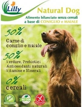 CROCCHETTE NATURAL DOG - GRAIN FREE CONIGLIO E MAIALE