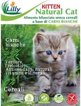 NATURAL CAT - KITTEN GRAIN FREE CARNI BIANCHE